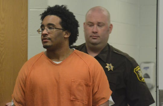 Davon West enters the courthouse before he is sentenced to prison.