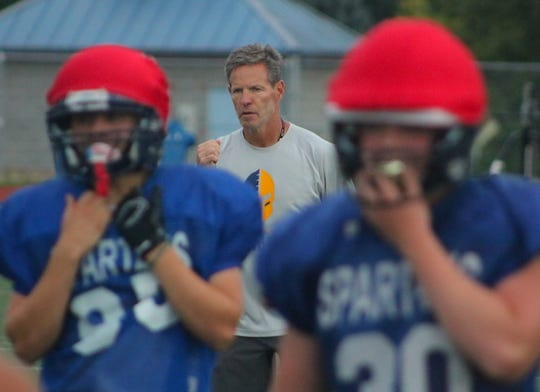 Bainbridge football coach Jeff Rouser and the Spartans made the playoffs in 2018.