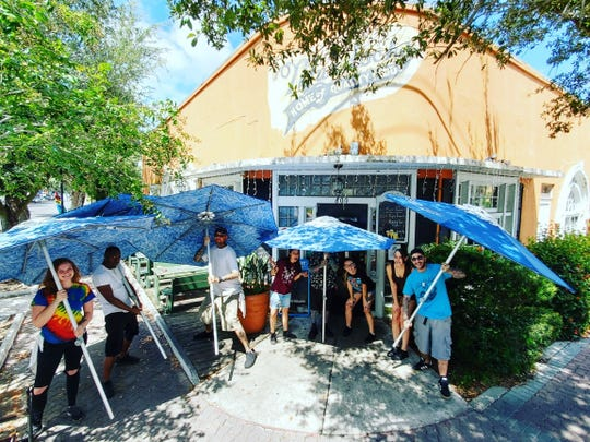 Vince Cancasci's team at Murdock's Southern Bistro in Cocoa Village are preparing for a hurricane party.