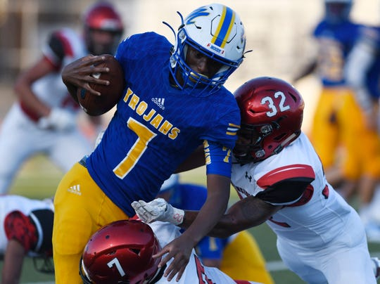 Moody's Darrell Nation was voted the Caller-Times High School Athlete of the Week for Sept. 23-28.
