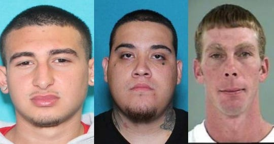 Michael Alegria Jr., 18, of Victoria; Luis Vela, 19, of Alice; and Michael McDaniel, 44, of Three Rivers.