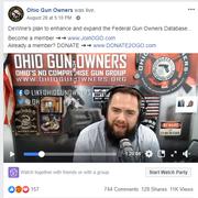 Chris Dorr, executive director of Ohio Gun Owners, responds to Gov. Mike DeWine's latest gun proposal via a Facebook video.