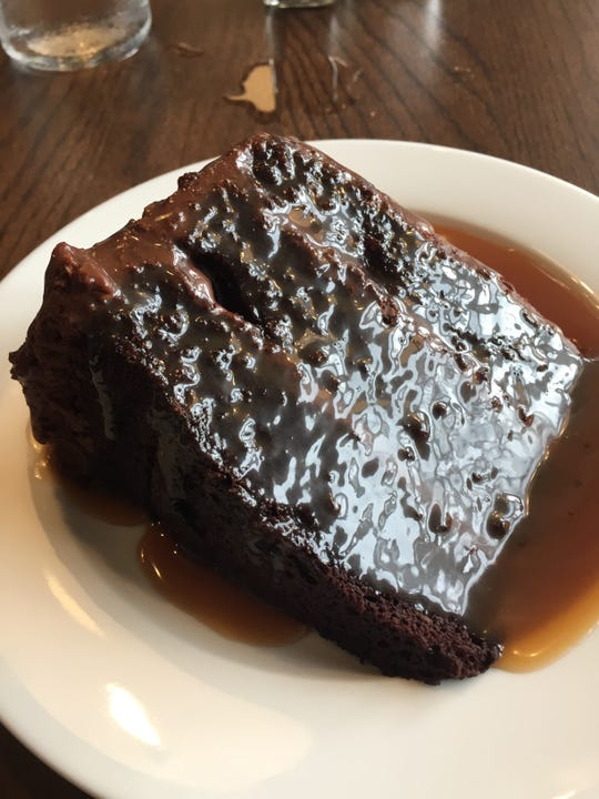 The chocolate cake at Goose and Elder from Jose Salazar in Over-the-Rhine