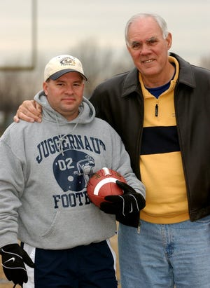 Lloyd High School football coach Roy Lucas, Jr. (left) with his father, Roy Lucas, Sr. They once coached together.