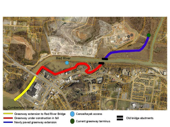 Clarksville RiverWalk-Greenway aerial map