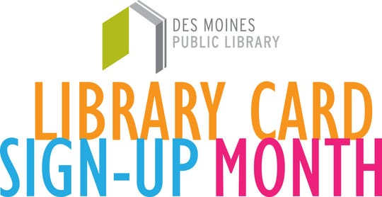 It's Library Card Sign-up Month in September at the Des Moines Public Library