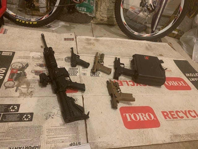 U.S. Customs and Border Protection bust passenger at Detroit Metro Airport with ballistic armor, weapons cache at him U.S. residence.