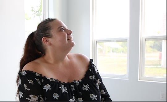 Amanda Funk, 25, a new member of the Cass Community Social Service's Tiny Homes neighborhood is excited about initiating a legacy of homeownership in her family.