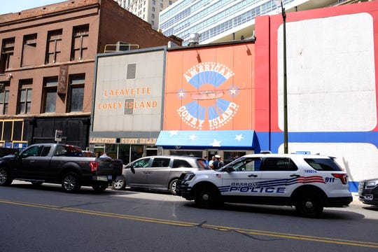 Detroit police officers were called to American and Lafayette coney islands on Friday, Aug. 30, 2019.