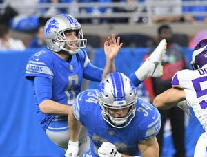 Sam Martin has had 15 of his 23 kickoffs returned this season.