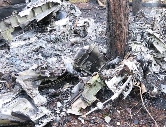 Site near Oscoda of Sept. 25, 2018, twin-engine airplane crash that killed pilot David Smith.