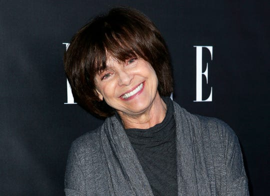 FILE - In this June 7, 2016 file photo, Valerie Harper arrives at the ELLE Women in Comedy event, in Los Angeles. Valerie Harper, who scored guffaws and stole hearts as Rhoda Morgenstern on back-to-back hit sitcoms in the 1970s, has died, Friday, Aug. 30, 2019. She was 80.