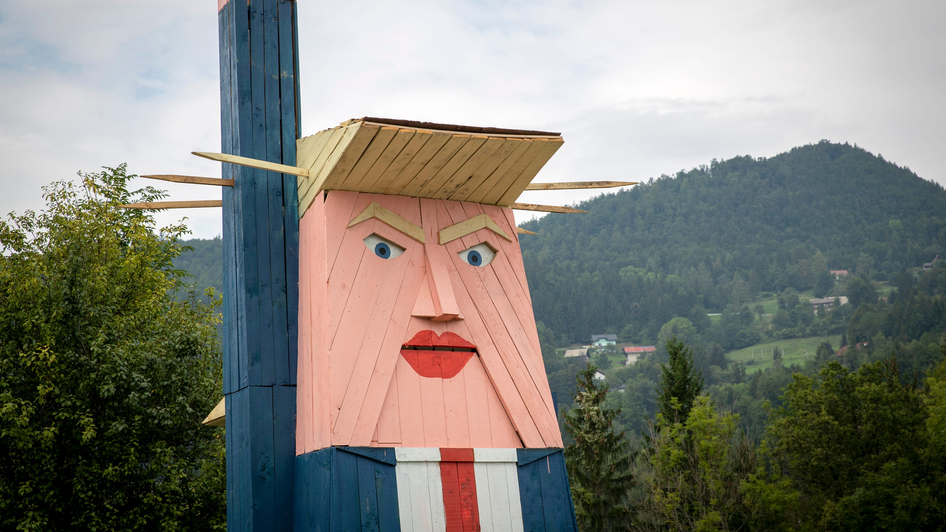Donald Trump Gets Statue In Wife S Homeland Of Slovenia