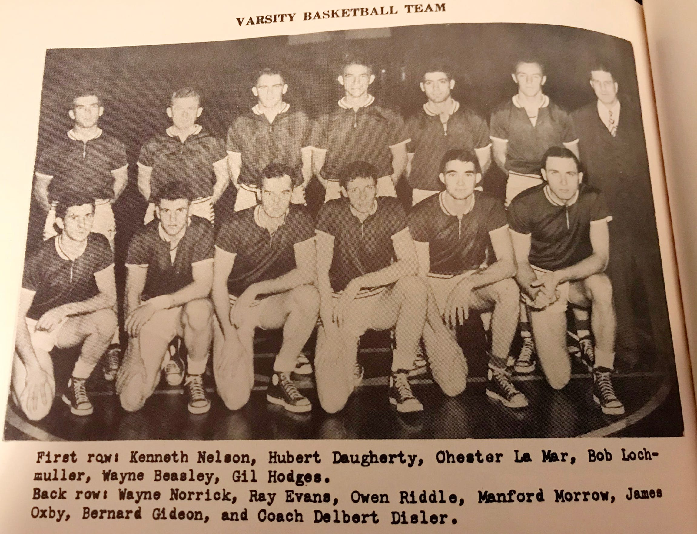 Gil Hodges' Oakland City College basketball team.