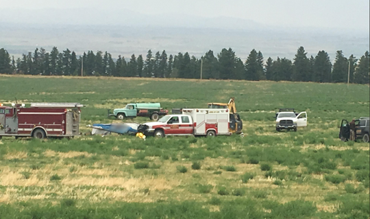 Officials said they had to use heavy equipment to overturn the plane during the emergency response to a Thursday plane crash in Montana killing three Evansville men.