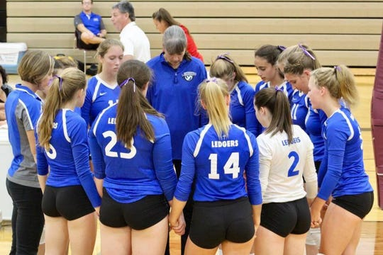 St. Mary's Springs girls volleyball team paid tribute to Oakfield teen Brianna Totz Thursday, Aug. 29, at their game by wearing purple ribbons in their hair. Purple was Totz' favorite color.
