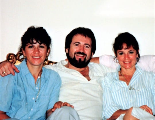 Cynthia Williams is pictured in the 1980s with friends and Cape restauranteurs, Alice and Dario Zuljani (Ariani's).