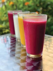 Norman Love Confections on McGregor Boulevard now offers wine-based smoothies crafted from its house-made sorbets.