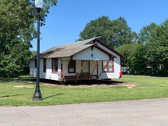 The Oseola McCarty house was relocated Friday, Aug. 30, 2019, from Miller Street to Sixth Street, where it will become a museum.