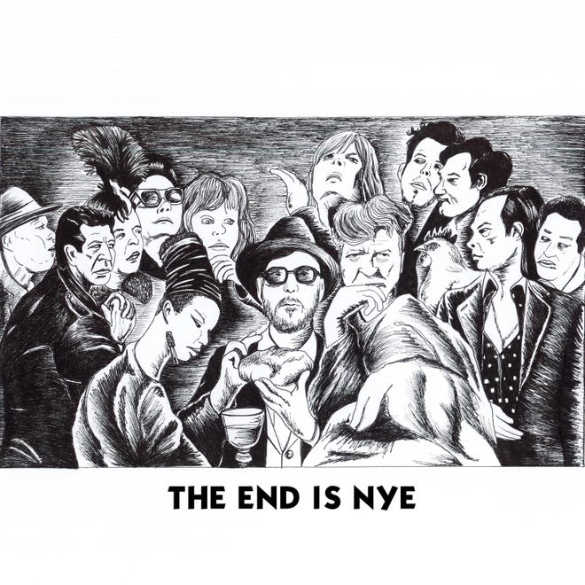 "Album cover for ""The End Is Nye,"" set to release on Friday, Sept. 13 from Almost Halloween Records."