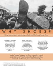 Samaritan's Feet is a nationwide initiative inspiring hope through the gift of shoes, the act of washing feet, and encouragement to those who need it most, according to its website.