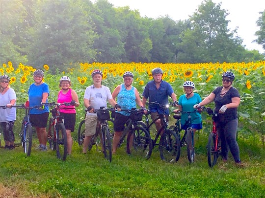 While anyone of any age and skill level is welcome, the group is primarily made up of mid-level riders who are middle age and older and are just interested in exercise and socializing.