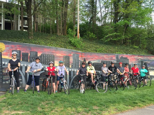 During one of the first Wednesday night rides, the group ended up riding approximately 10 miles on the Ten Mile Creek Greenway.