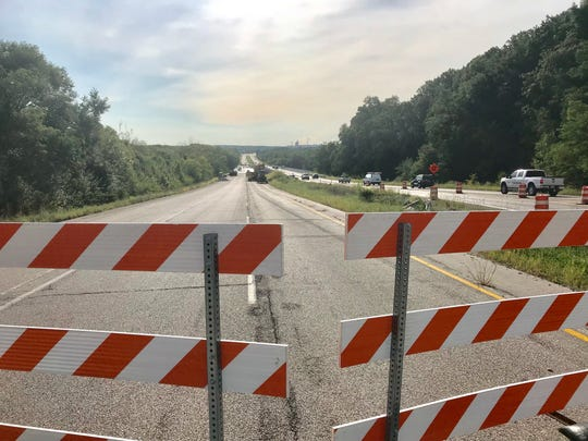 Work continues on the westbound lanes of the Sagamore Parkway bridge over the Wabash River.