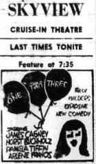 Skyview ad in the September 6, 1962 Lancaster Eagle-Gazette.