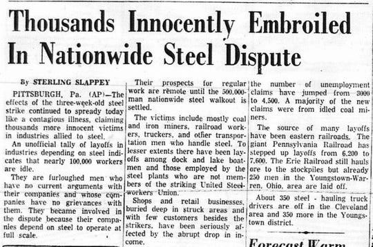 An AP article in the August 5, 1959 Lancaster Eagle-Gazette.