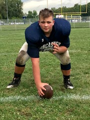 Lancaster senior Drew Solt waited his turn and earned a starting spot at center for the Lancaster football team.