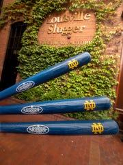 Louisville Slugger Museum's Notre Dame bats