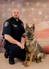Manitowoc Police Officer Jason Koenig and K-9 Neko.