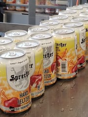 Sprecher Brewing's WI Old Fashioned Press Hard Seltzer is available now at the Glendale brewery.