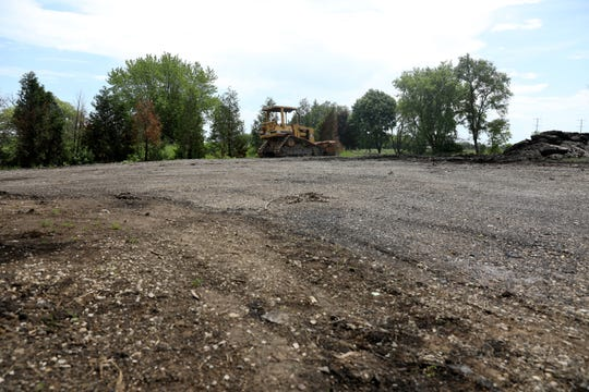The former home of the Mueller family at 9725 Braun Road in Sturtevant is now an empty dirt lot. Their house was demolished to make way for road improvements for the Foxconn project.  Wisconsin Public Radio learned the road widening was scuttled even before the Muellers were told they needed to move.