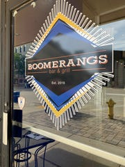 "The name Boomerangs comes from Brady Rice's earlier gig as a bartender at another local bar and grill. He left and returned to that job so often that the regulars started calling him the ""boomerang bartender."""