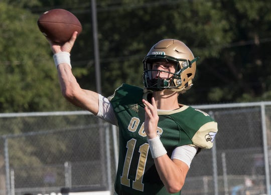 OCS quaterback Hunter Herring (11) was voted the Guerriero & Guerriero High School Hero for the third consecutive week. Herring accounted for 342 yards and six total touchdowns in a 56-41 semifinal win over Metairie Park Country Day.
