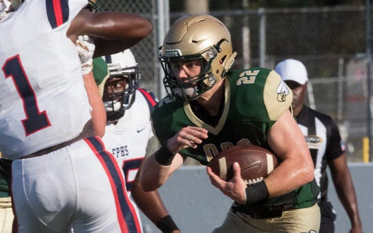 OCS ran for 172 yards and averaged 8.1 yards per carry in a 49-14 win over Arcadia at Eagle Stadium on Friday night.