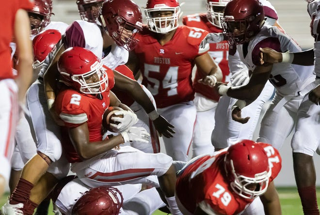 The Ruston and Ouachita game was the finale to day one of Bayou Jamb at Malone Stadium in Monroe, La. on Aug. 29