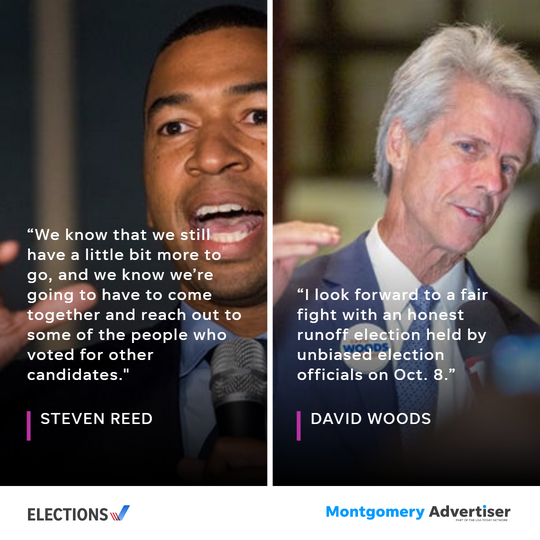 Steven Reed and David Reed face each other in a the runoff for mayor of Montgomery in October.