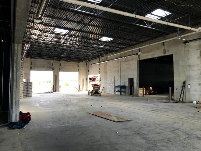 A view of the garage at the new Hubler Ford location. The facility is still under construction, with the goal to be ready for business by the end of 2019.