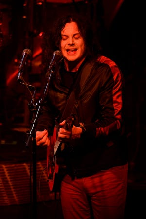 Jack White performs with The Raconteurs at the Ryman Auditorium in Nashville, Tenn., Thursday, Aug. 29, 2019.