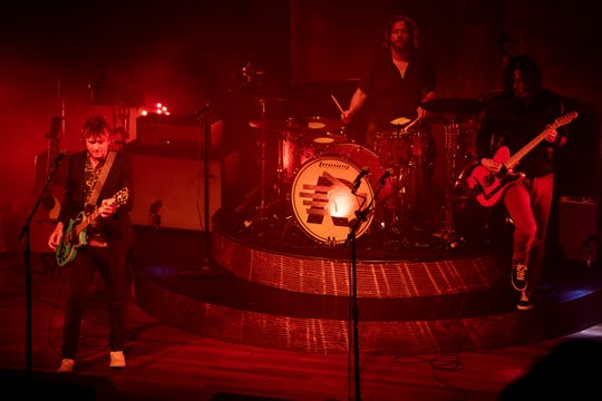 The Raconteurs perform at the Ryman Auditorium in Nashville, Tenn., Thursday, Aug. 29, 2019.