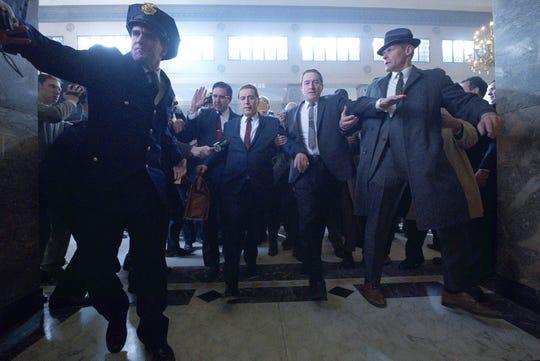 "Ray Romano, left, Al Pacino and Robert De Niro in Martin Scorsese's ""The Irishman."" (Netflix/TNS)"