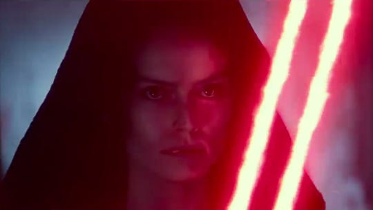 """An image from new footage from \""""Star Wars: The Rise of Skywalker\"""" released at Disney's D23 Expo."""