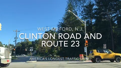 Route 23 and Clinton Road: America's longest traffic light?