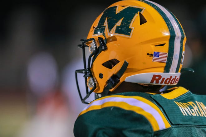 The Mayfield Trojans and the Del Valle Conquistadors from El Paso face off at the Field of Dreams in Las Cruces on Thursday, Aug. 29, 2019.