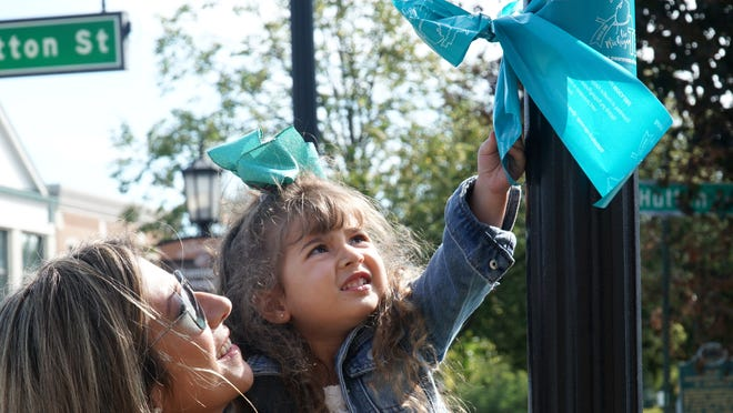 Downtown Northville Turns Teal To Raise Awareness Of Ovarian Cancer