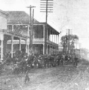 Robert Chachere's Store on Chachere's Corner, the southwest corner of Landry and Court streets, in downtown Opelousas as it appeared at the turn of the 20th century.