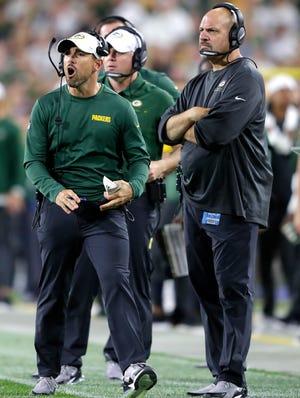 Green Bay Packers head coach Matt LaFleur against the Kansas City Chiefs during their  preseason football game Thursday, August 29, 2019, at Lambeau Field in Green Bay, Wis.Wm. Glasheen/USA TODAY NETWORK-Wisconsin